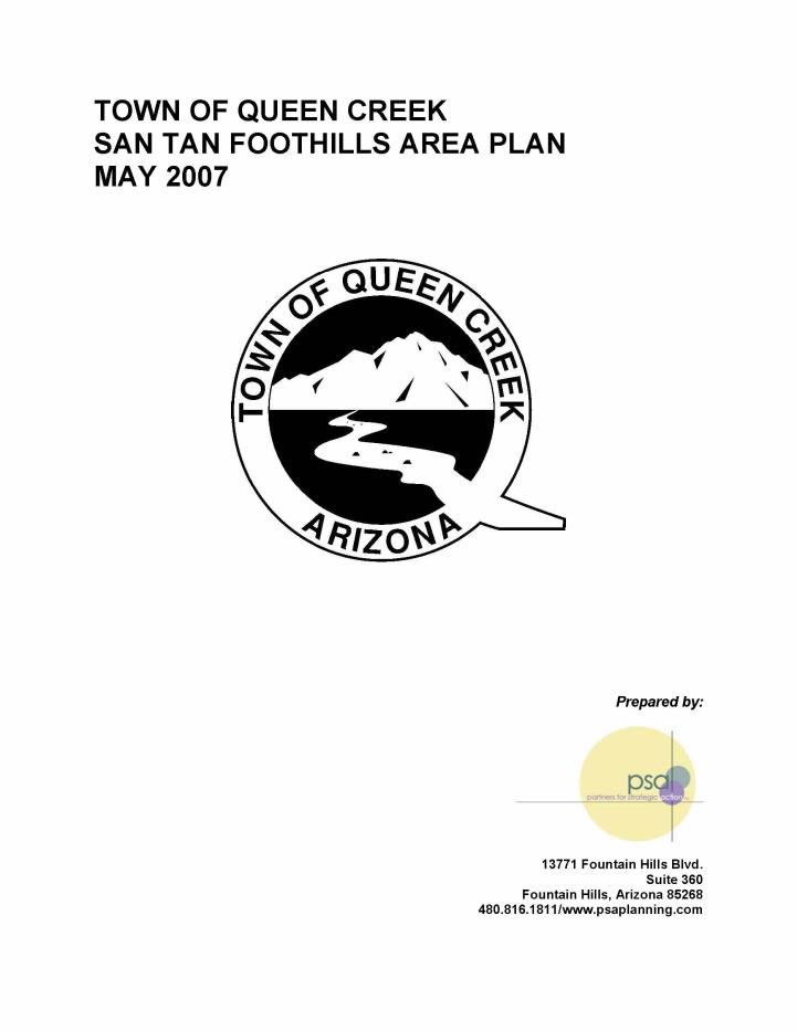 San Tan Foothills Area Plan cover