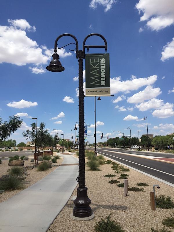 Pedestrian Street Light Banner Program Queen Creek Az