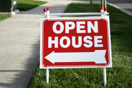 red-open-house-sign