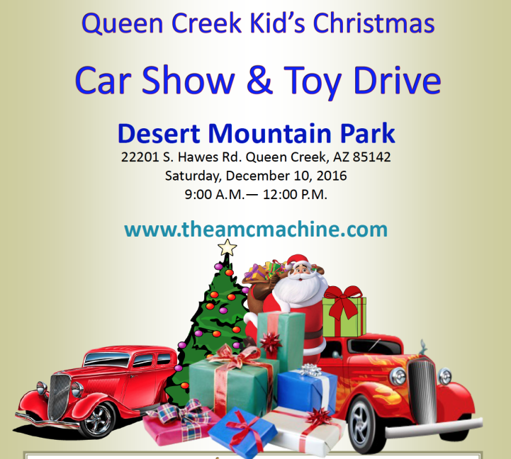 Queen Creek Kids Christmas Car Show Toy Drive To Be Held On - Kids car show