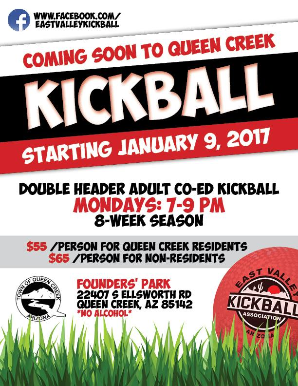 Kickball is Coming to Queen Creek