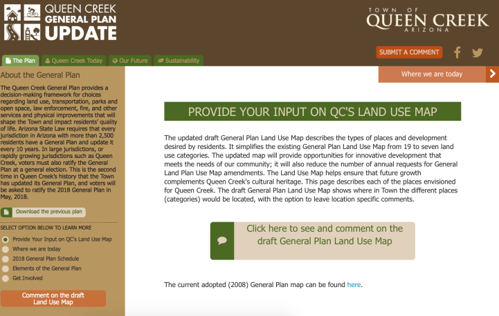 PlanQC Land Use Page