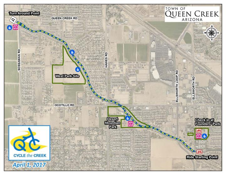 Map Of Arizona Showing Queen Creek.Queen Creek Wash Trail To Have Increased Traffic On April 1