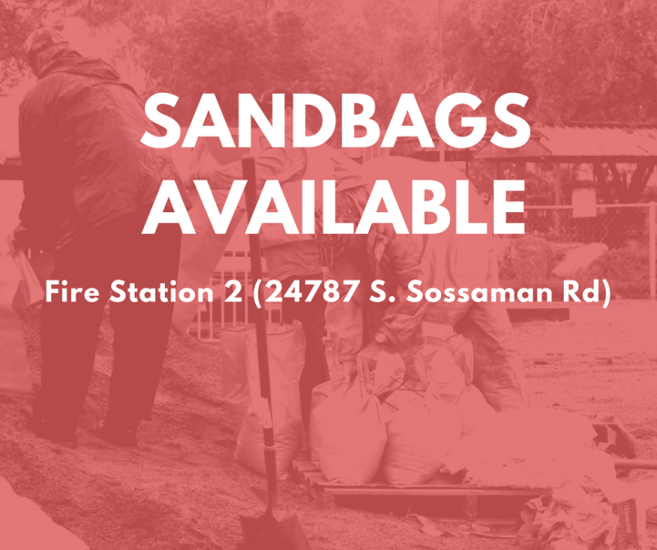Sandbags Available in Preparation for Anticipated Storms