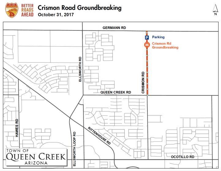 Parking Map Crismon Groundbreaking