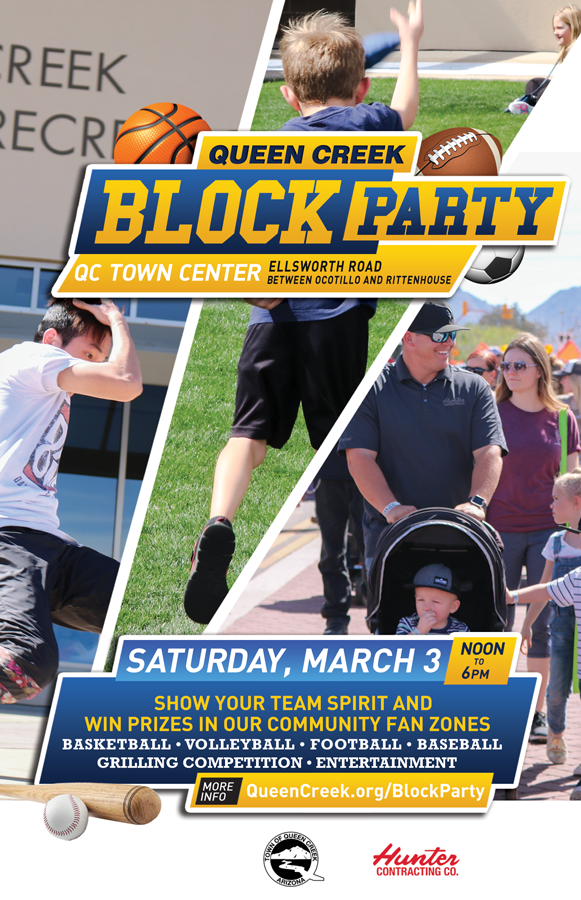 Run for the End Zone, Swing for the Fences & Aim for a Hole in One at Queen Creek's Block Party March 3