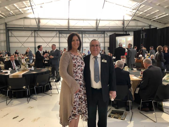 Mayor Barney with Vice Mayor Turley at the East Valley Mayor's Prayer Breakfast on 3/7