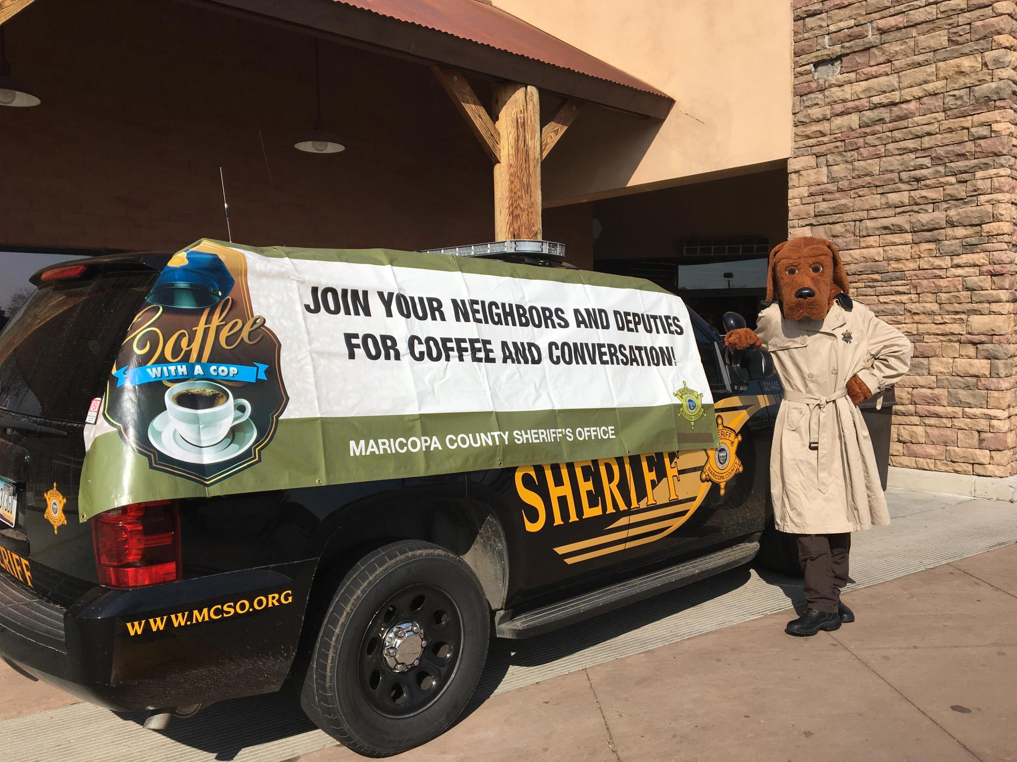 Coffee with a Cop - McGruff with Vehcile