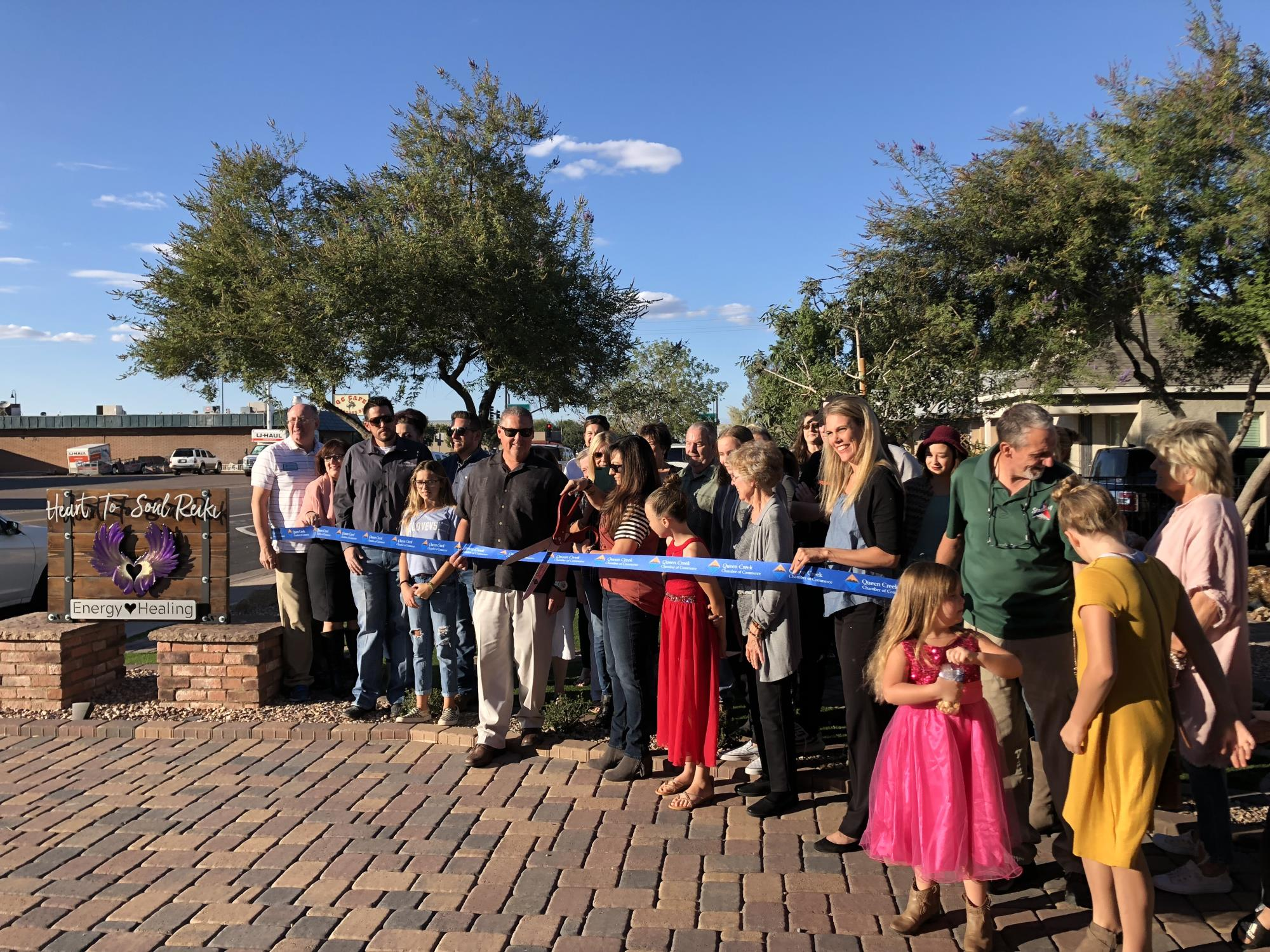 Council Member Wheatley at the Heart to Soul Reiki Ribbon Cutting on Wednesday, October 17