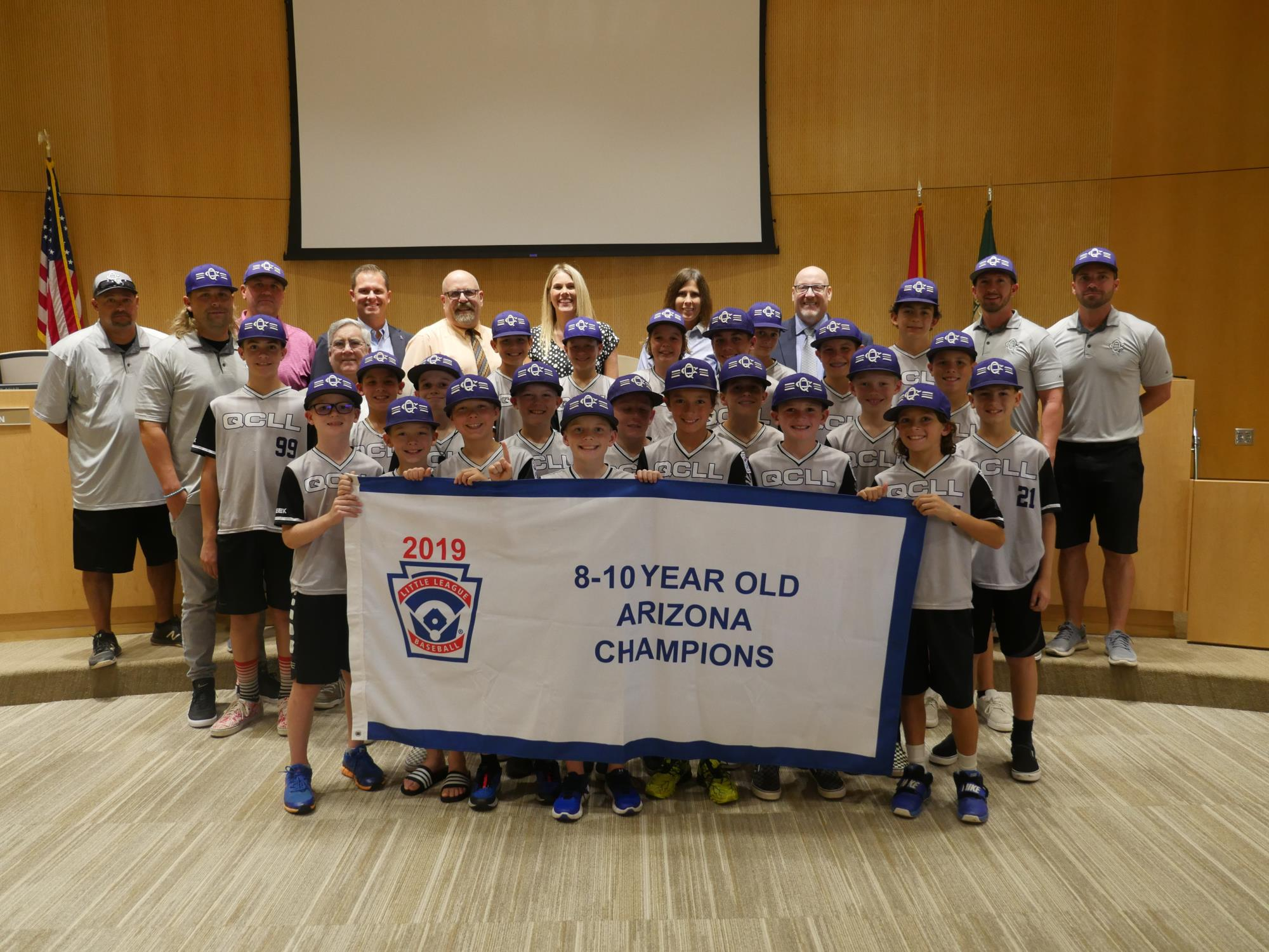 02 - Mayor Barney and the Town Council recognizing two Queen Creek Little League teams at the August 7 Town Council Meeting