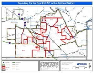 Pinal County Zip Code Map.United States Postal Services Announces New Zip Code For Queen Creek