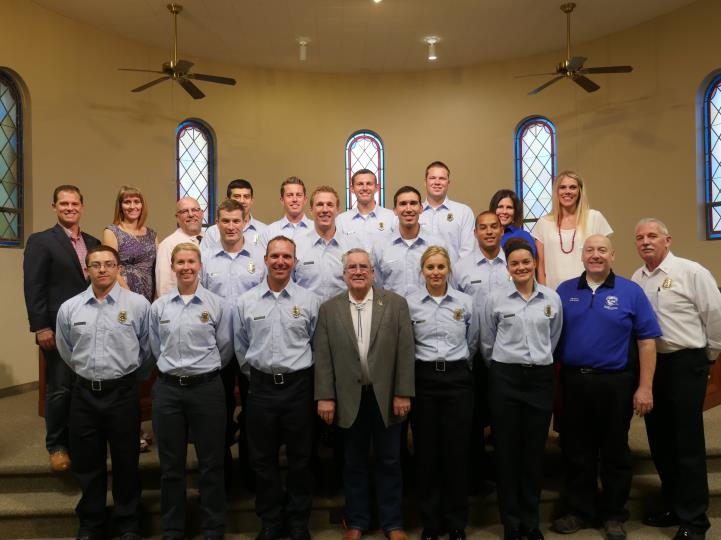 Fire Recruits at Town Council Meeting