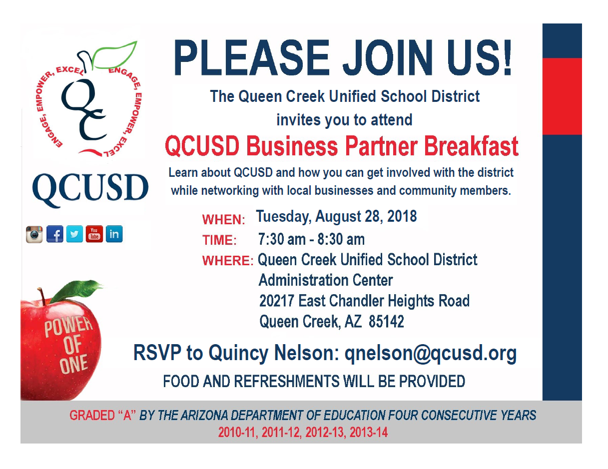 QCUSD business breakfast