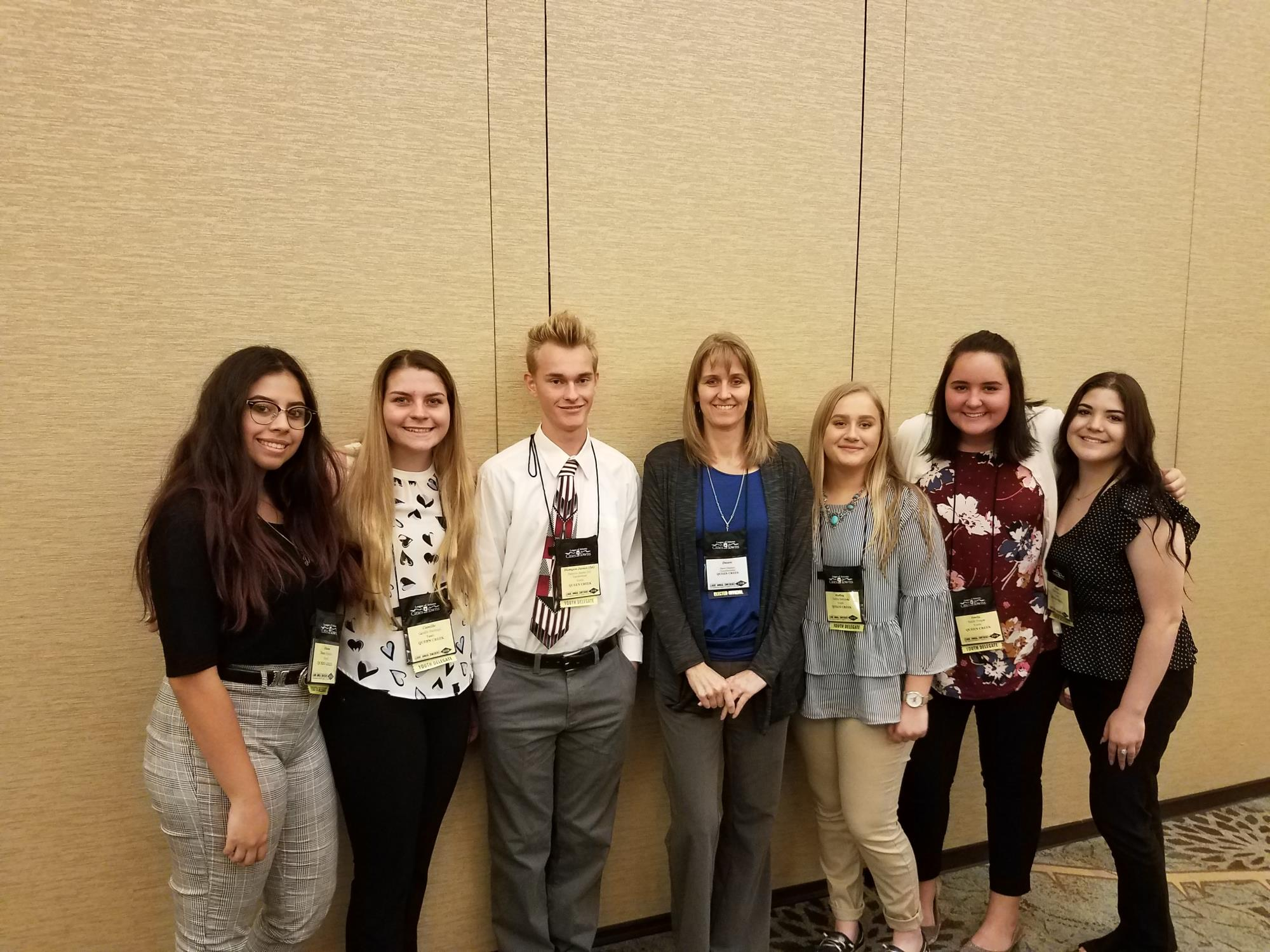 Council Member Oliphant with the Youth Advisory Council at the League of Arizona Cities and Towns Youth Delegate Luncheon on August 22