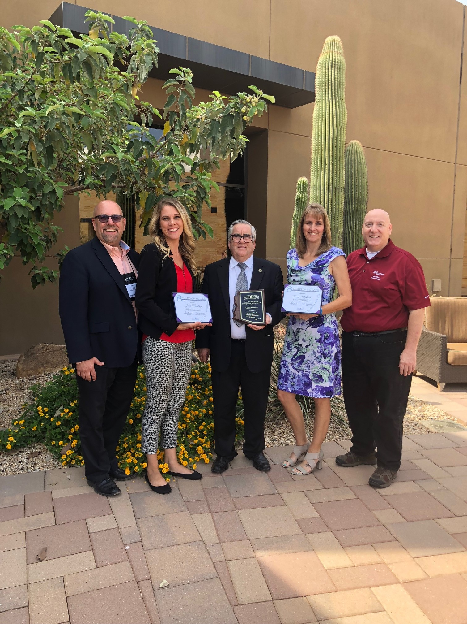 Mayor Barney with Council Members Benning, Brown, Oliphant and Wheatley at the Awards Luncheon at the League of Arizona Cities and Towns Conference on August 23
