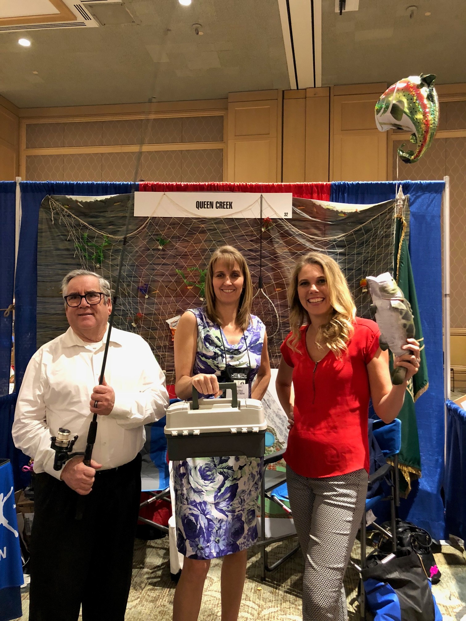 Mayor Barney with Council Members Oliphant and Wheatley at the Town Booth at the League of Arizona Cities and Towns Conference on August 23