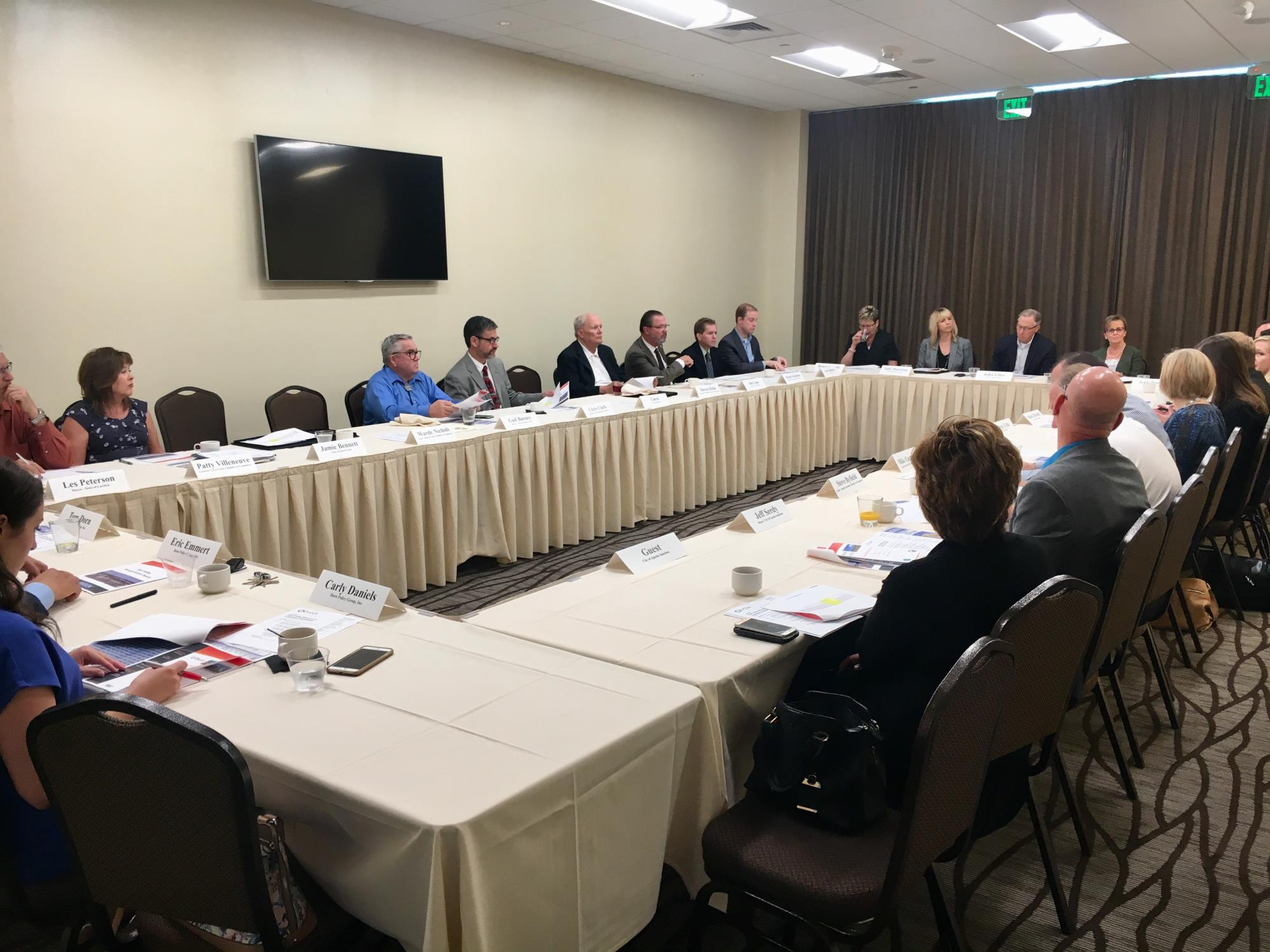 Mayor Barney attending a Mayors Round table with the East Valley Chambers of Commerce Alliance on September 5