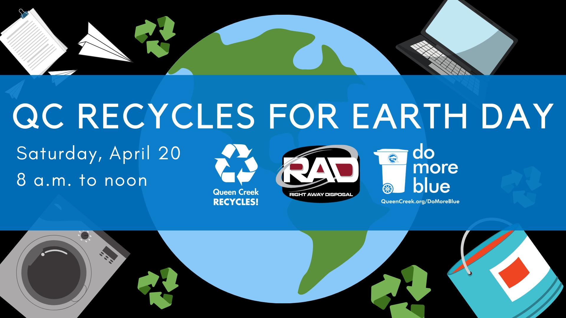 Qc recycles for earth day FB Event Cover