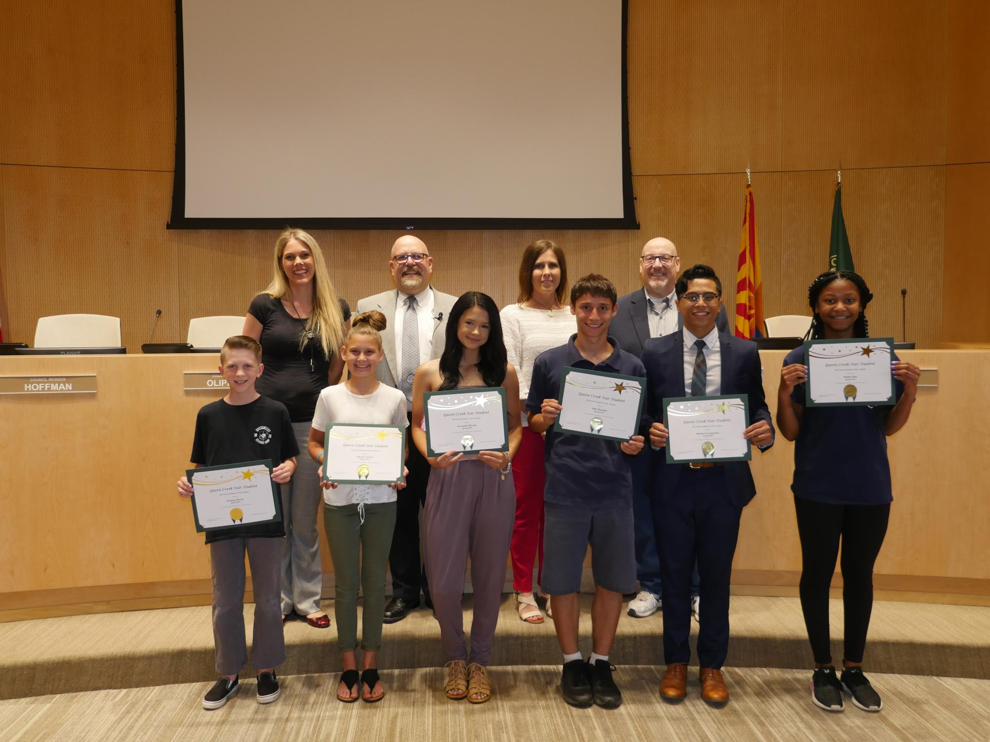 Star Students Recognized by Queen Creek Town Council