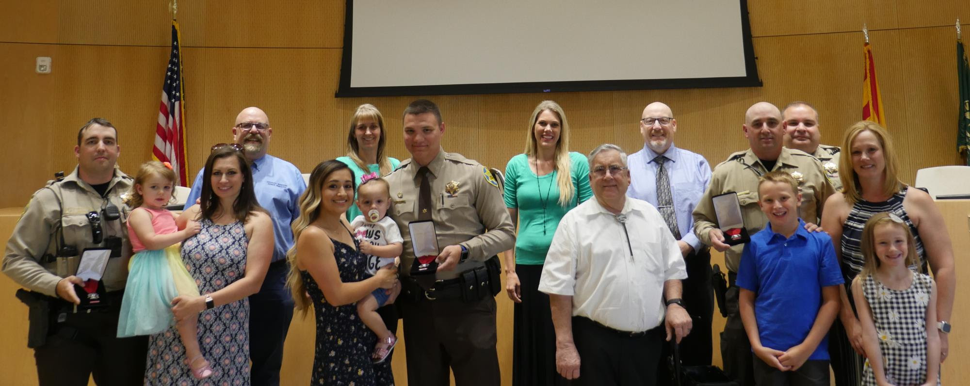 Mayor Barney and the Town Council recognizing MCSO District 6 Deputies at the June 5 Town Council Meeting
