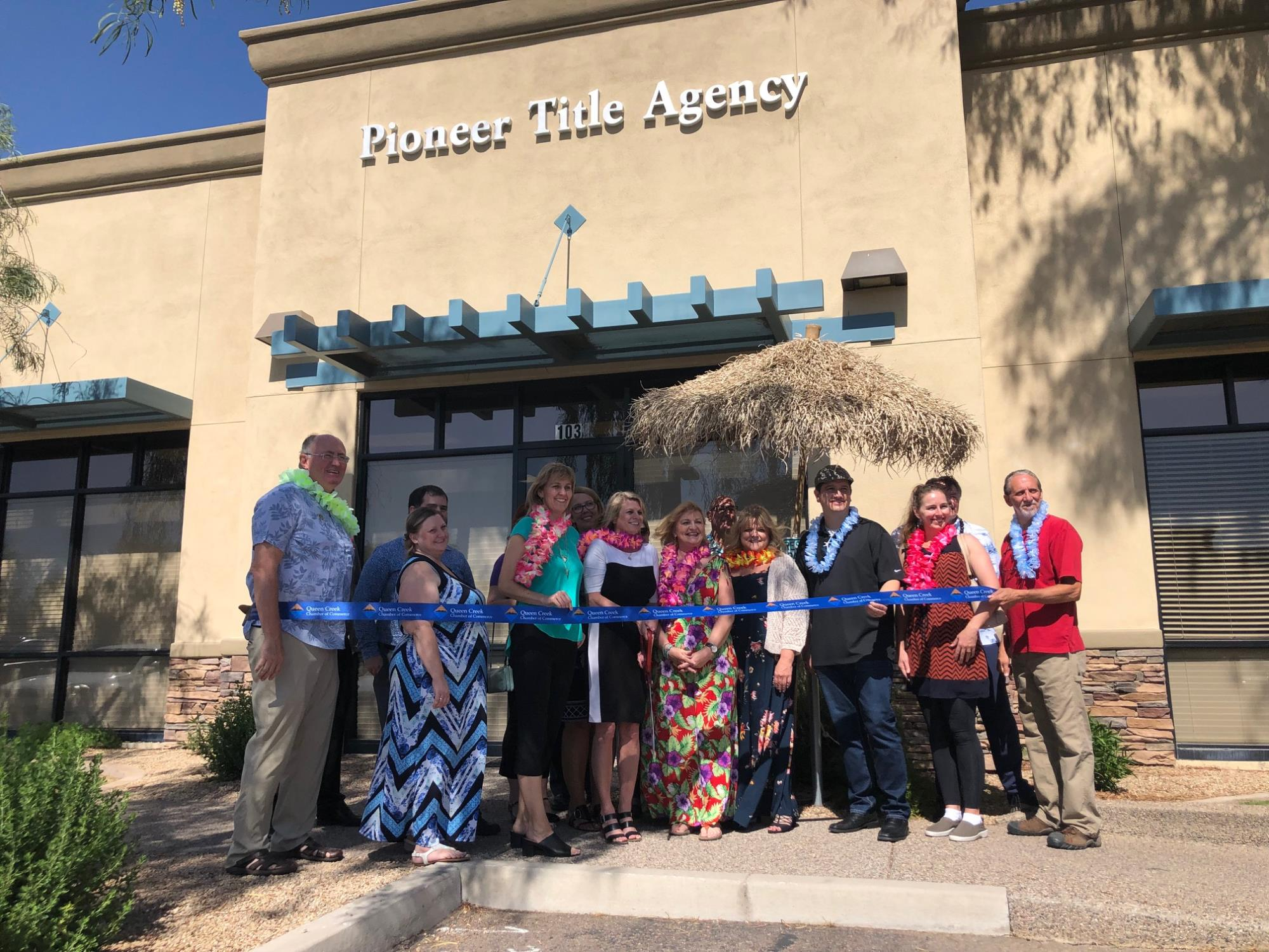 Council Member Oliphant at the Pioneer Title Agency Ribbon Cutting on June 7