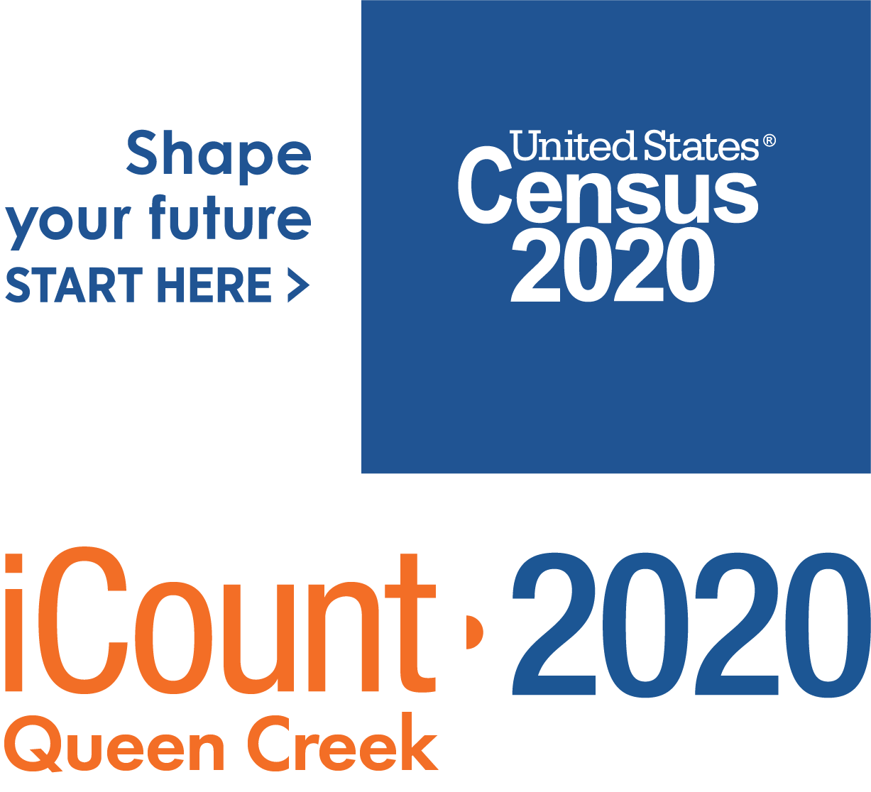 Census 2020 Queen Creek Logo