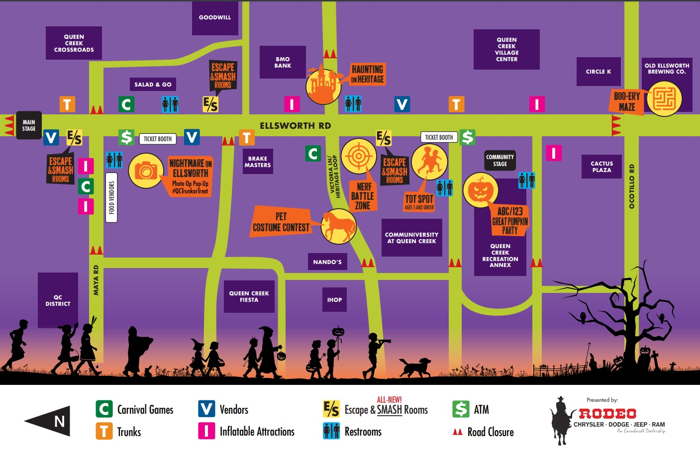 Trunk or Treat Map 2019 1
