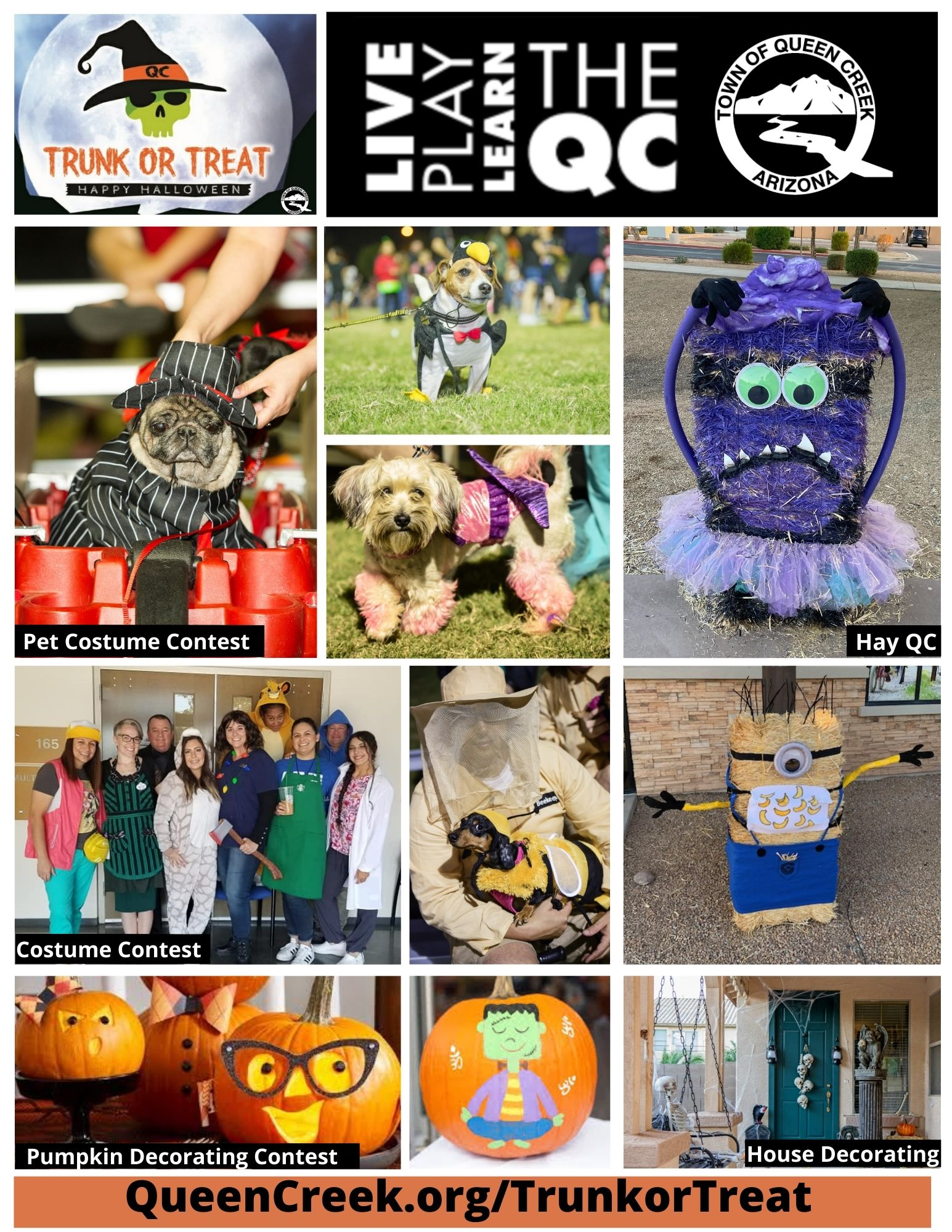 Halloween Costume Contest In The Qc Area 2020 🎃 Celebrate Queen Creek's Trunk or Treat throughout the Month of