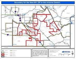 United States Postal Services announces new ZIP code for Queen Creek on map of la zip codes, map of ky zip codes, map of wa zip codes, map of southern ca zip codes, north phoenix arizona zip codes,