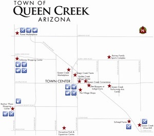 Map Of Arizona Showing Queen Creek.More Horseplay In Queen Creek Queen Creek Az