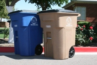 Trash & Recycling cans