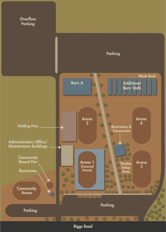Horseshoe Park & Equestriain Centre Site Map