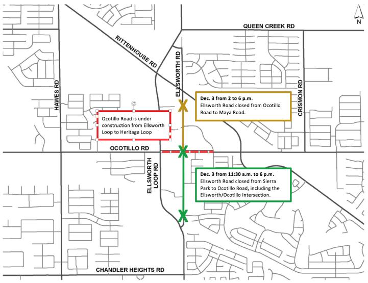 2016 Parade closure map