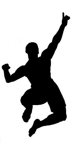 ManJumpingPointing_Sports&MartialArts