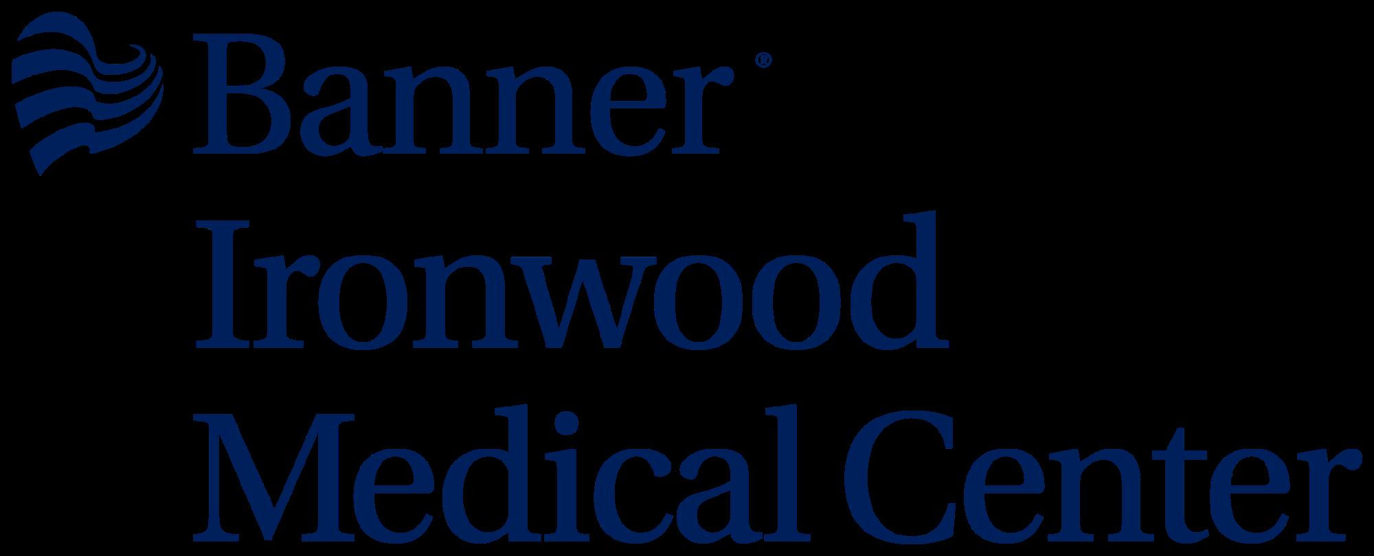 Banner Ironwood Medical Center logo PMS 281